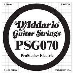 D'Addario PSG070 XL ProSteel Single Electric Guitar Strings - 70