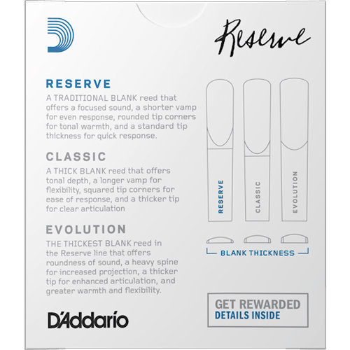 View larger image of D'Addario Reserve Bb Clarinet Reeds - #3-1/2, 25 Box