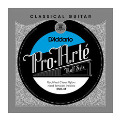 D'Addario RNH-3T Pro-Arté Rectified Clear Nylon Treble Classical Guitar Strings - Hard
