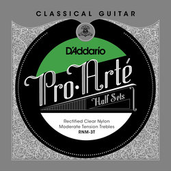 D'Addario RNM-3T Pro-Arté Rectified Clear Nylon Treble Classical Guitar Strings - Moderate