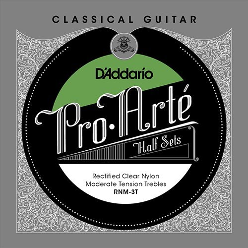 View larger image of D'Addario RNM-3T Pro-Arté Rectified Clear Nylon Treble Classical Guitar Strings - Moderate