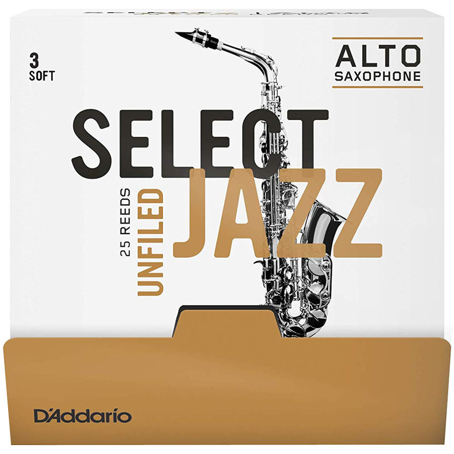 View larger image of D'Addario Select Jazz Alto Saxophone Reeds - 3, Soft, Unfiled, 25 Box