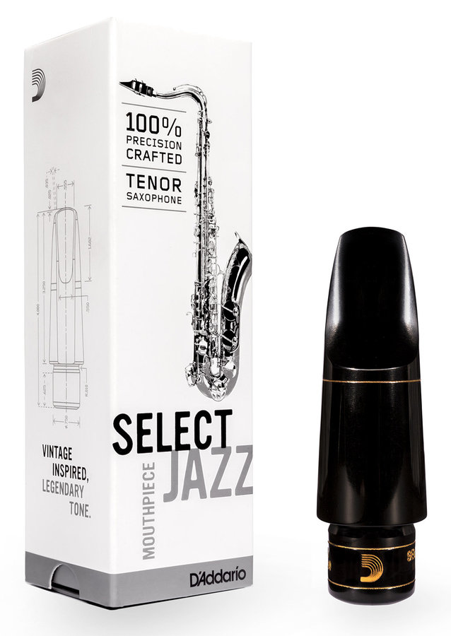 View larger image of D'Addario Select Jazz Tenor Saxophone Mouthpiece - D7M