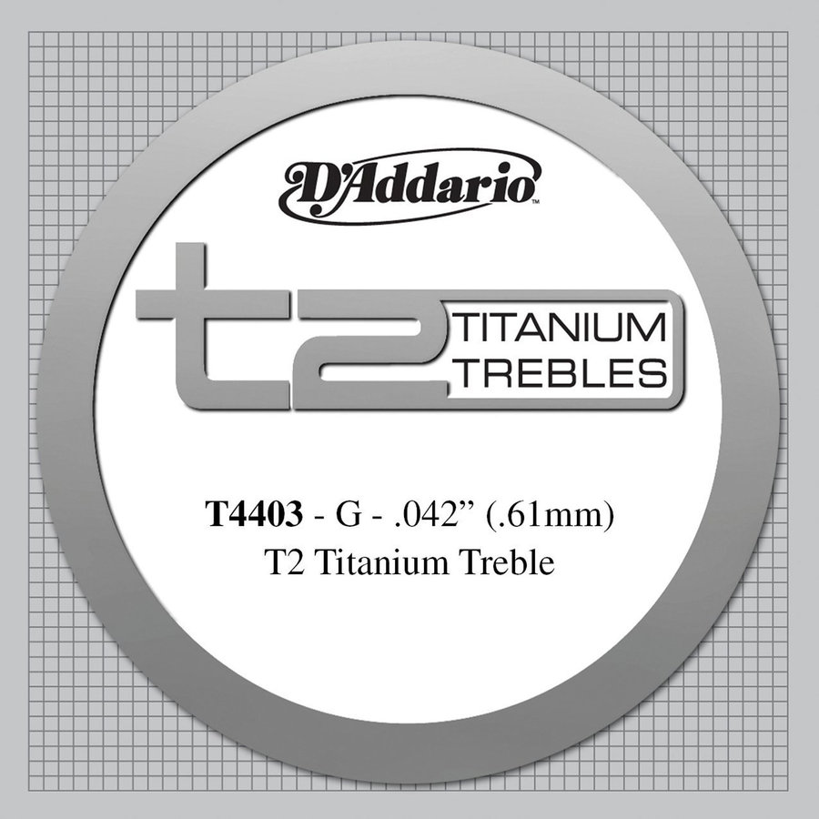 View larger image of D'Addario T4403 T2 Titanium Classical Guitar Single String - Extra-Hard Tension .042 Guage