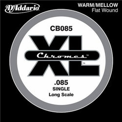 D'Addario XL Chromes Flat Wound Single Bass Guitar String - Long, 85