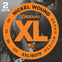 D'Addario XL Nickel Wound Bass Guitar Strings - Long, 50-105