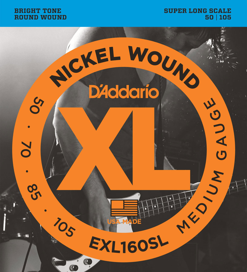 View larger image of D'Addario XL Nickel Wound Electric Guitar Strings - Round Wound, Super Long, Medium, 50-105
