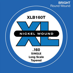 D'Addario XL Nickel Wound Single Bass String - Long, Tapered, 160