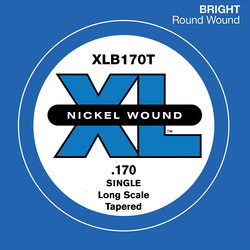 D'Addario XL Nickel Wound Single Bass String - Long, Tapered, 170