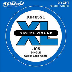 D'Addario XL Nickel Wound Single Bass String - Super Long, 105