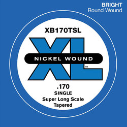 D'Addario XL Nickel Wound Single Bass String - Super Long, Tapered, 170