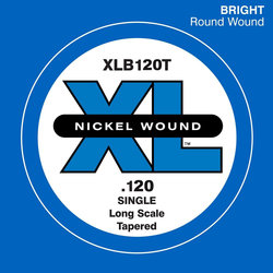 D'Addario XL Nickel Wound Single Bass String - Tapered, 120