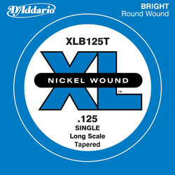 D'Addario XL Nickel Wound Single Bass String - Tapered, 125