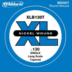 D'Addario XL Nickel Wound Single Bass String - Tapered, 130