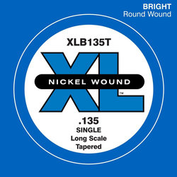 D'Addario XL Nickel Wound Single Bass String - Tapered, 135