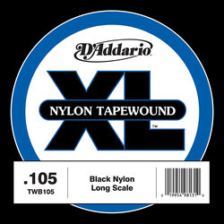 D'Addario XL Nylon Tape Wound Single Bass String - Long, 105