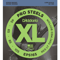 D'Addario XL ProSteels Bass Guitar Strings - Light / Heavy, 45-105