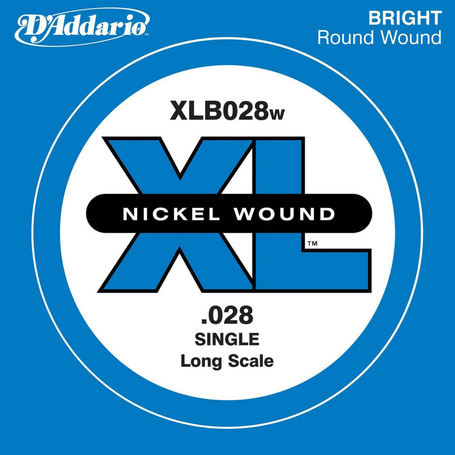 View larger image of D'Addario XLB028W XL Nickel Wound Bass Guitar Single String - .028 Gauge Long Scale