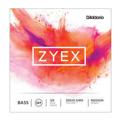 D'Addario Zyex Bass Single A String - 3/4, Medium