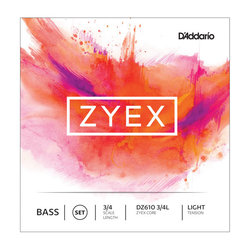 D'Addario Zyex Bass String Set - 3/4 Scale, Light Tension