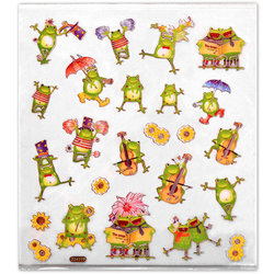 Dancing and Singing Frogs Stickers