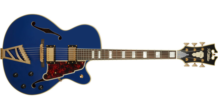 View larger image of D'Angelico Deluxe DH Electric Guitar - Matte Royal Blue