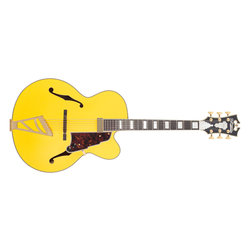D'Angelico Deluxe EXL-1 Electric Guitar - Matte Electric Yellow