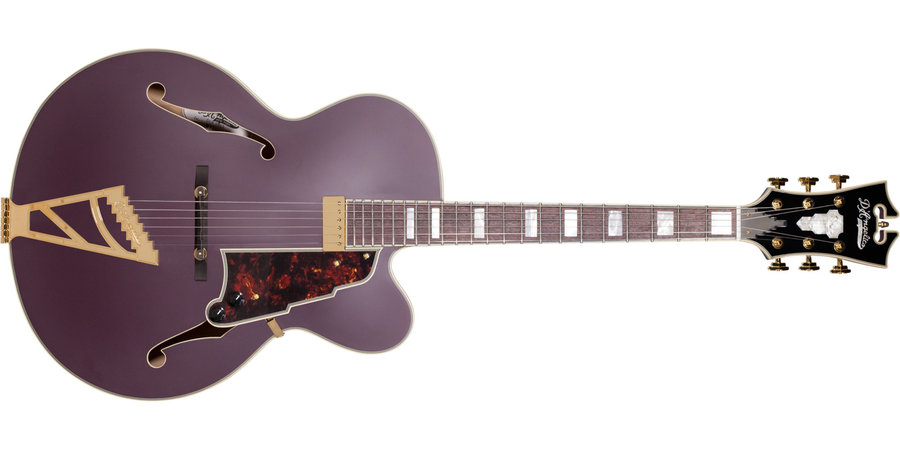 View larger image of D'Angelico Deluxe EXL-1 Electric Guitar - Matte Plum