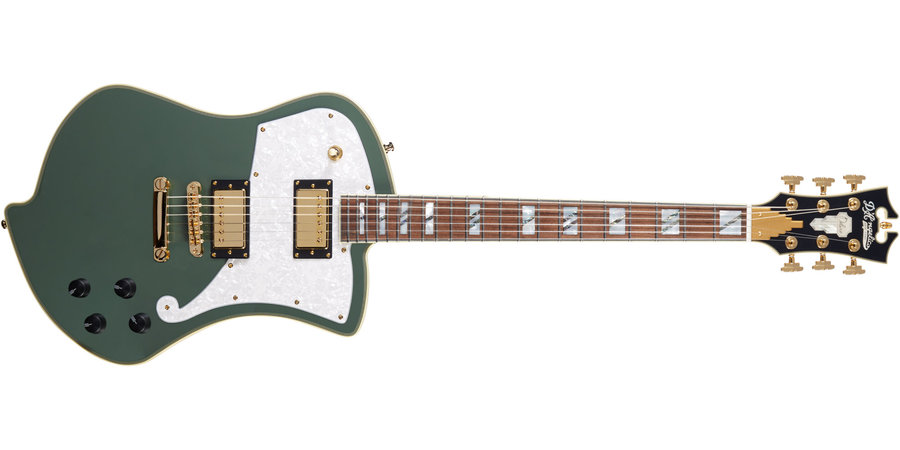 View larger image of D'Angelico Deluxe Ludlow Electric Guitar - Hunter Green