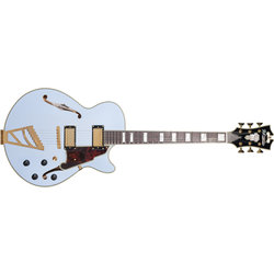 D'Angelico Deluxe SS Electric Guitar - Stairstep, Matte Powder Blue