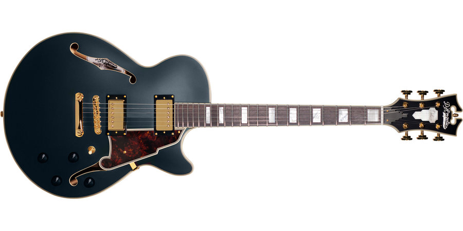 View larger image of D'Angelico Deluxe SS Electric Guitar - Stopbar, Matte Midnight
