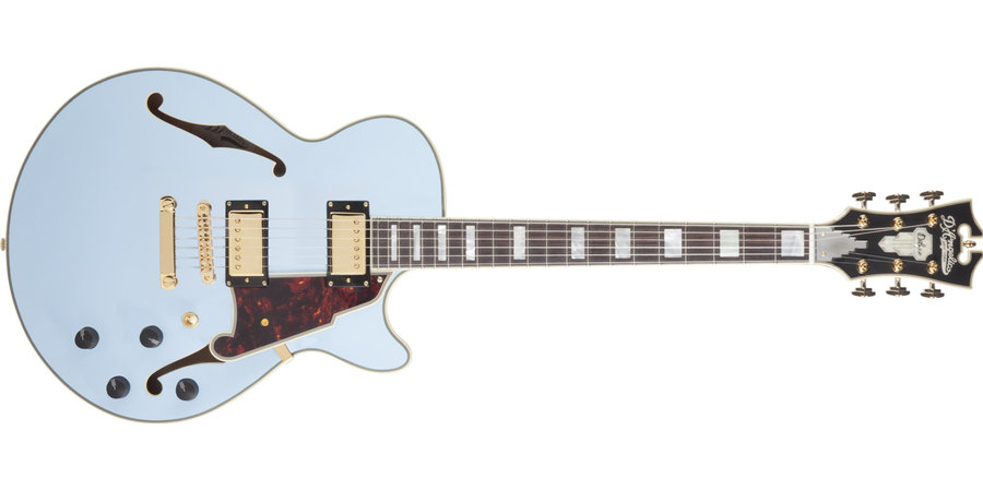 View larger image of D'Angelico Deluxe SS Electric Guitar - Stopbar, Matte Powder Blue