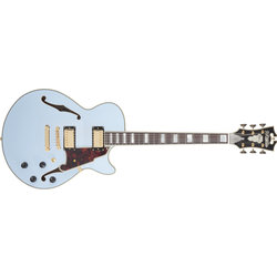 D'Angelico Deluxe SS Electric Guitar - Stopbar, Matte Powder Blue