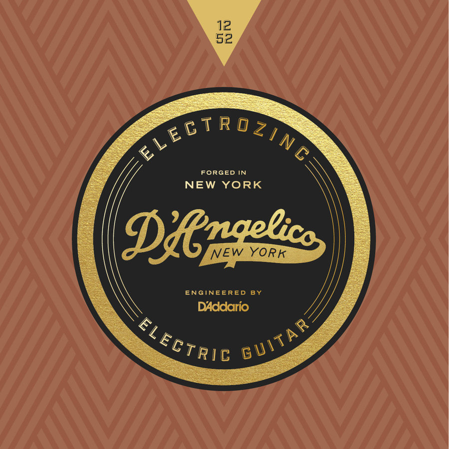 View larger image of D'Angelico Electrozinc Jazz Electric Guitar Strings - 12-52