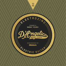 D'Angelico Electrozinc Rock Electric Guitar Strings - 10-46
