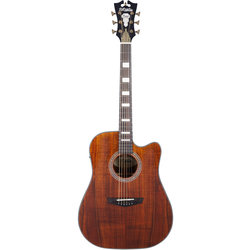 D'Angelico Excel Bowery Acoustic-Electric Guitar - Natural Koa
