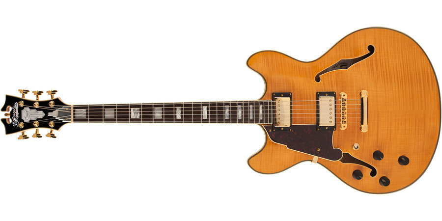 View larger image of D'Angelico Excel DC Electric Guitar - Natural Tint, Left