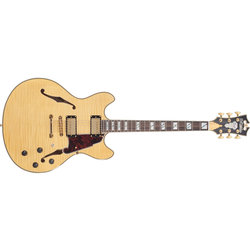 D'Angelico Excel DC Electric Guitar - Stopbar, Natural