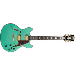 D'Angelico Excel DC Electric Guitar - Stopbar, Surf Green