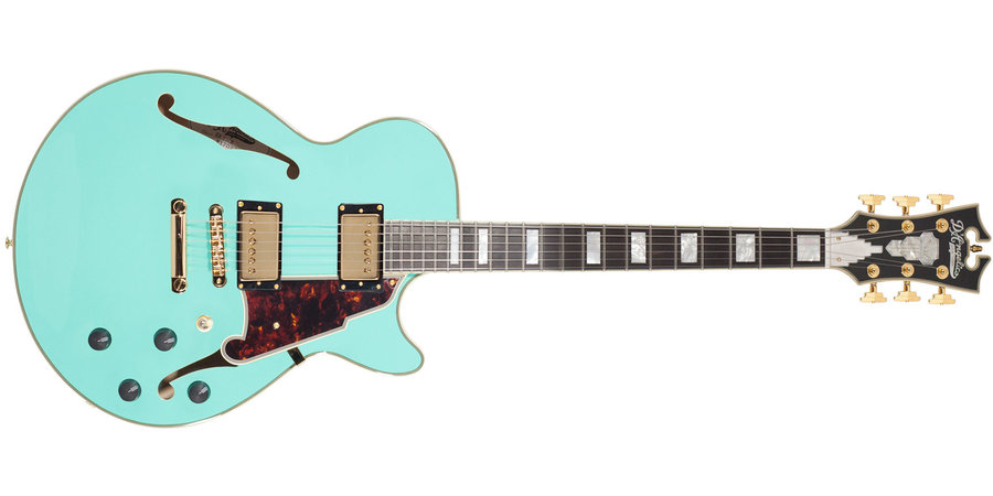 View larger image of D'Angelico Excel SS Shoreline Electric Guitar - Stopbar, Surf Green