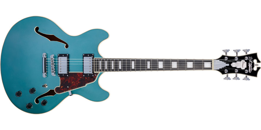 View larger image of D'Angelico Premier DC Electric Guitar - Stopbar, Ocean Turquoise