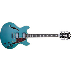 D'Angelico Premier DC Electric Guitar - Stopbar, Ocean Turquoise