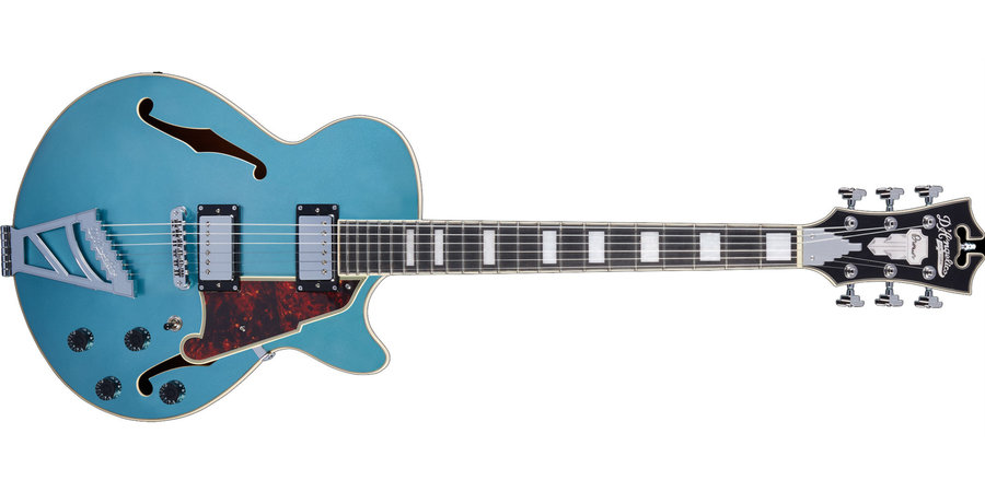 View larger image of D'Angelico Premier SS Electric Guitar - Stairstep, Ocean Turquoise