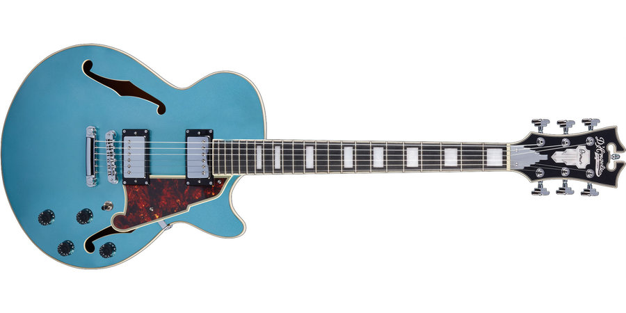 View larger image of D'Angelico Premier SS Electric Guitar - Stopbar, Ocean Turquoise