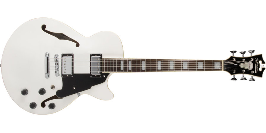 View larger image of D'Angelico Premier SS Electric Guitar - Stopbar, White