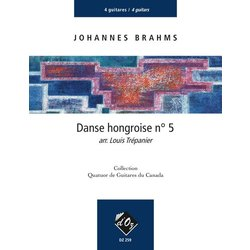 Danse Hongroise No.5 (Hungarian Dance No.5) (Brahms) - Guitar Quartet