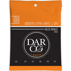 Darco Acoustic Guitar Strings - 80/20, Extra Light