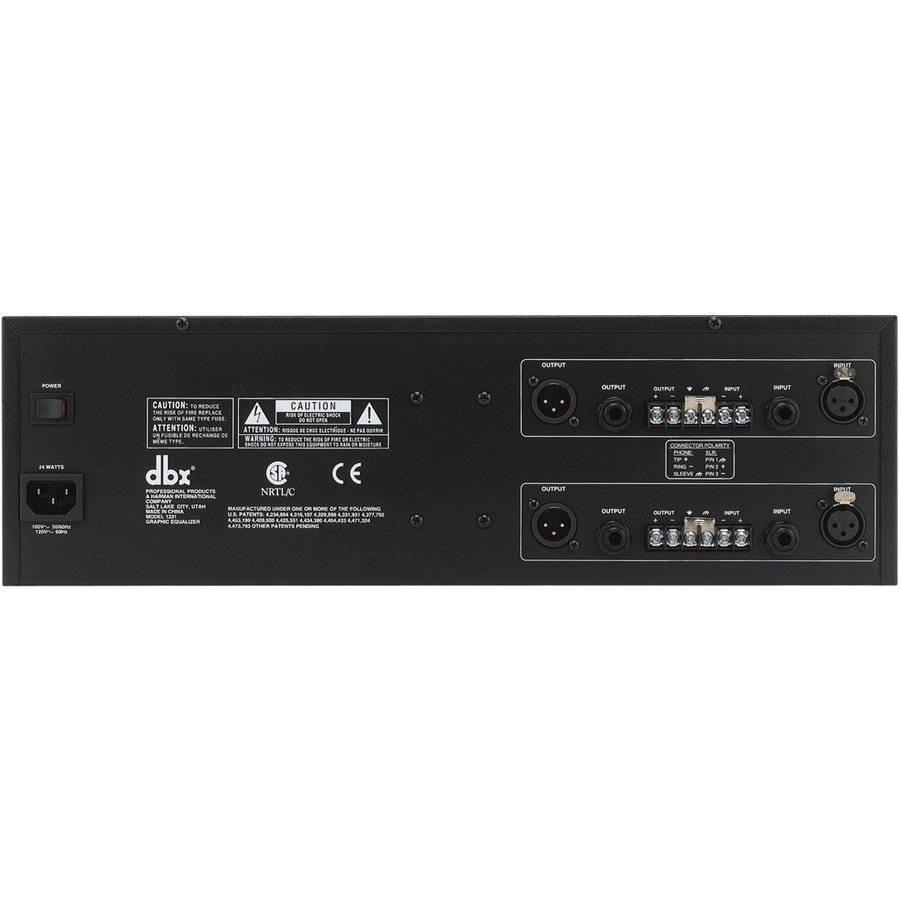 View larger image of DBX 1231 Dual Channel 31-Band Equalizer