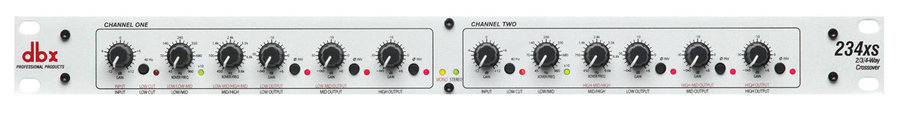 View larger image of DBX 234xs Stereo 2/3 Way Mono 4-Way XLR Crossover