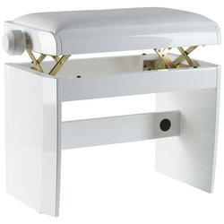 Dexibell DX Piano Bench - White Polished